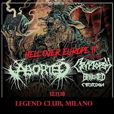 Aborted + Cryptopsy + Benighted + guest