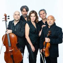 Claudia Gerini e Solis String Quartet