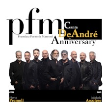 PFM canta De André AnniversaryBologna