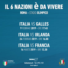 SCOZIA vs ITALIA SIX NATIONS CHAMPIONSHIP 2019Roma