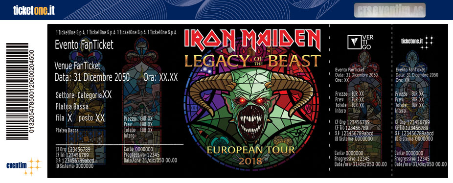 concert iron maiden 2018